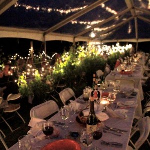 Tented Vineyard Dinner