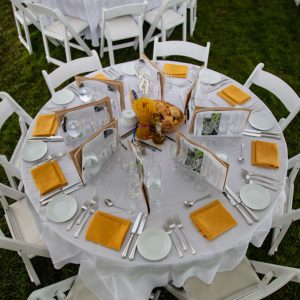 Harvest party table